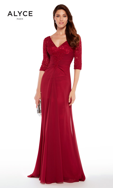 27234 (Wine) gown from the 2018 Alyce Paris: JDL Collection collection, as seen on Bride.Canada