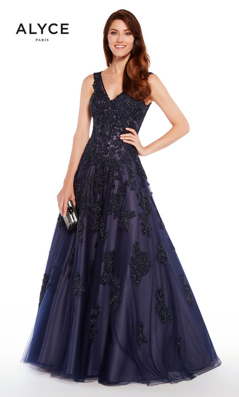 27235 (Navy) gown from the 2018 Alyce Paris: JDL Collection collection, as seen on Bride.Canada