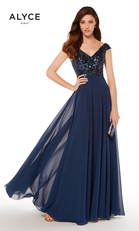 27245 (Navy) gown from the 2018 Alyce Paris: JDL Collection collection, as seen on Bride.Canada