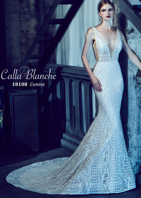 Connie gown from the 2018 Calla Blanche collection, as seen on Bride.Canada