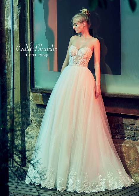 Becky gown from the 2018 Calla Blanche collection, as seen on Bride.Canada