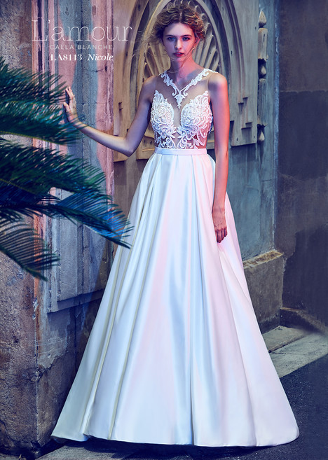 Nicole (LA8113) gown from the 2018 L'Amour by Calla Blanche collection, as seen on Bride.Canada