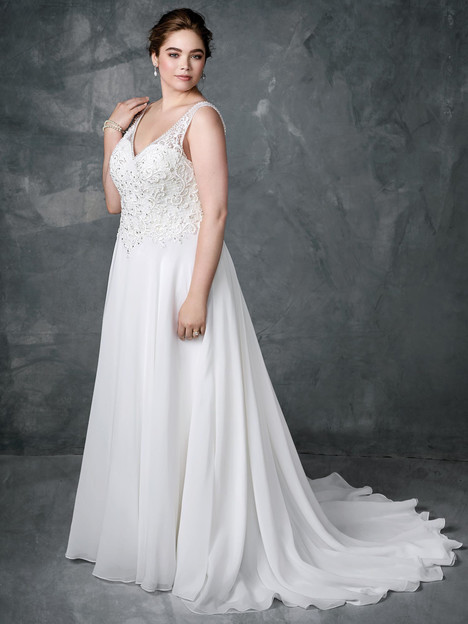 3404 gown from the 2018 Femme by Kenneth Winston collection, as seen on Bride.Canada