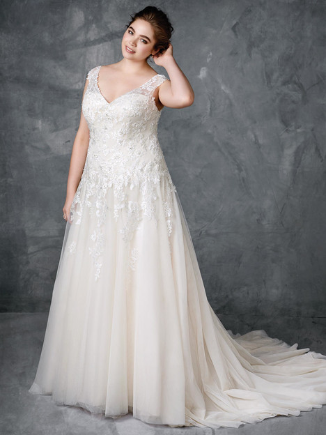 3406 gown from the 2018 Femme by Kenneth Winston collection, as seen on Bride.Canada