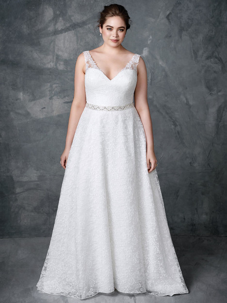 3408 gown from the 2018 Femme by Kenneth Winston collection, as seen on Bride.Canada