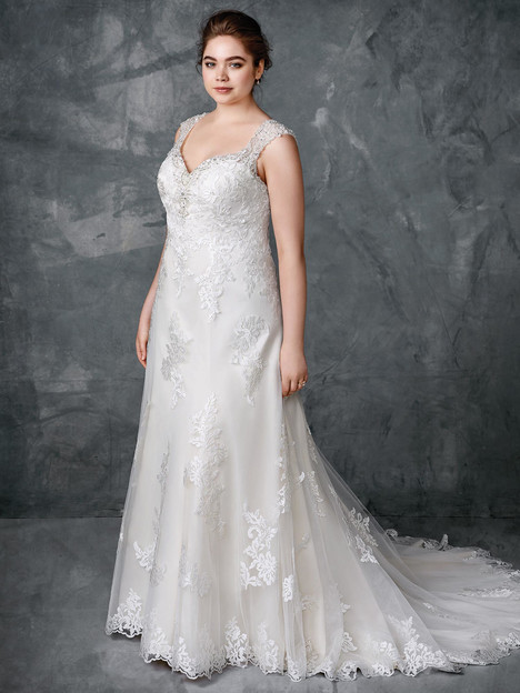 3409 gown from the 2018 Femme by Kenneth Winston collection, as seen on Bride.Canada