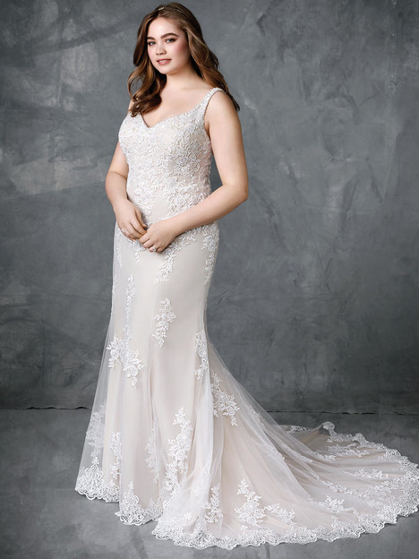 3411 gown from the 2018 Femme by Kenneth Winston collection, as seen on Bride.Canada