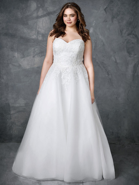 3412 gown from the 2018 Femme by Kenneth Winston collection, as seen on Bride.Canada