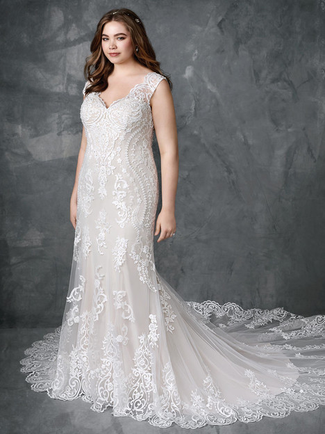 3414 gown from the 2018 Femme by Kenneth Winston collection, as seen on Bride.Canada