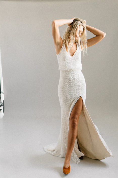Mara gown from the 2018 Laudae collection, as seen on Bride.Canada
