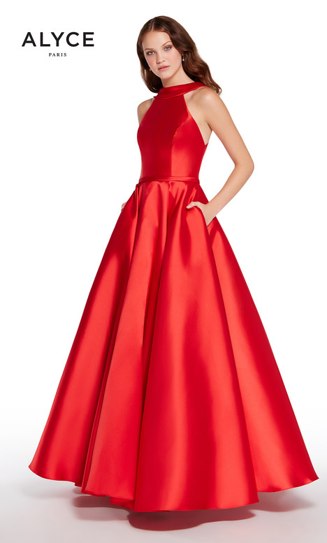 60063B (Red) gown from the 2018 Alyce Paris collection, as seen on Bride.Canada