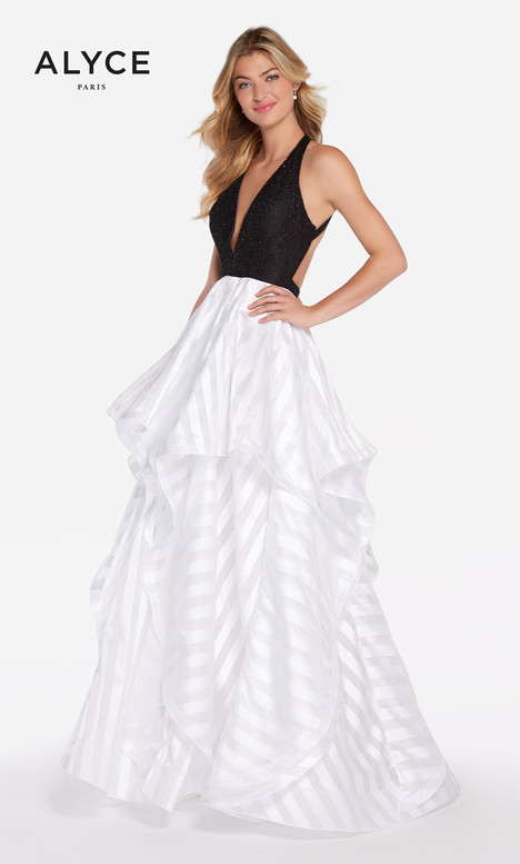 60148 (Black White) gown from the 2018 Alyce Paris collection, as seen on Bride.Canada