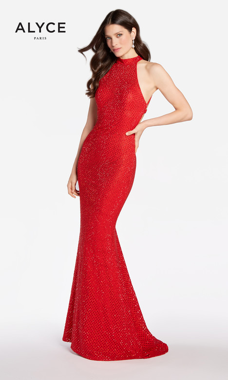 60155 (Red) gown from the 2018 Alyce Paris collection, as seen on Bride.Canada