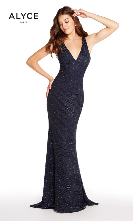 60156 (Navy) gown from the 2018 Alyce Paris collection, as seen on Bride.Canada