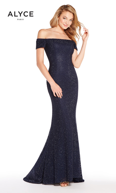 60157 (Navy) gown from the 2018 Alyce Paris collection, as seen on Bride.Canada