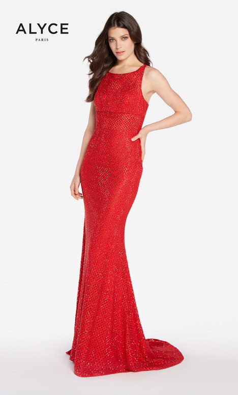 60158 (Red) gown from the 2018 Alyce Paris collection, as seen on Bride.Canada