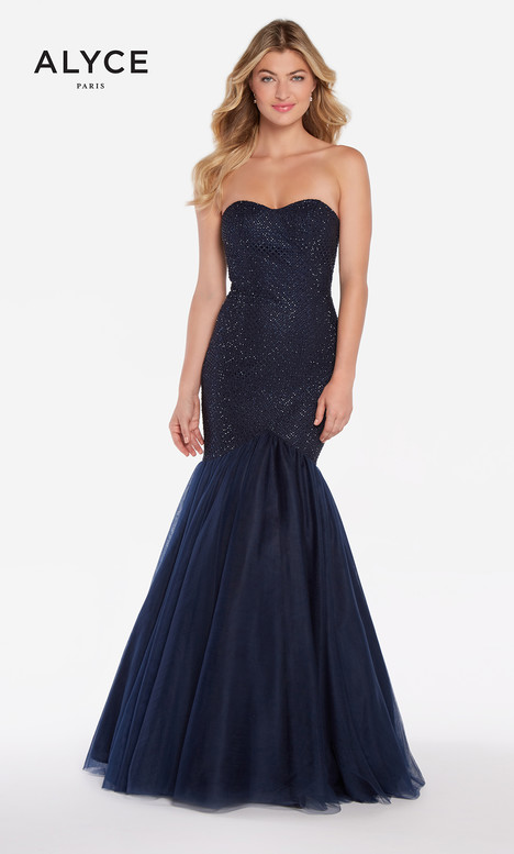 60159 (Navy) gown from the 2018 Alyce Paris collection, as seen on Bride.Canada