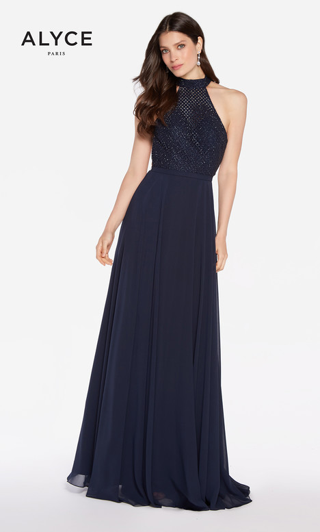 60160 (Navy) gown from the 2018 Alyce Paris collection, as seen on Bride.Canada
