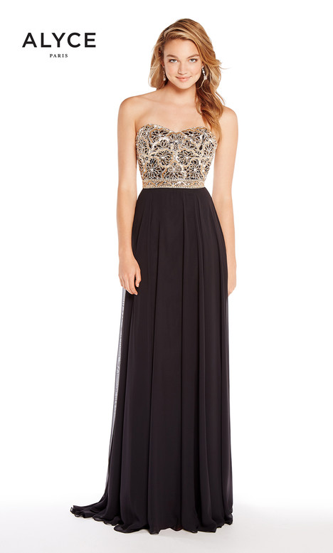 60191 (Black) gown from the 2018 Alyce Paris collection, as seen on Bride.Canada