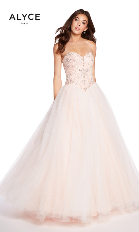 60202 (Pink) gown from the 2018 Alyce Paris collection, as seen on Bride.Canada