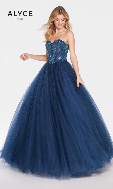 60204 (Navy) gown from the 2018 Alyce Paris collection, as seen on Bride.Canada