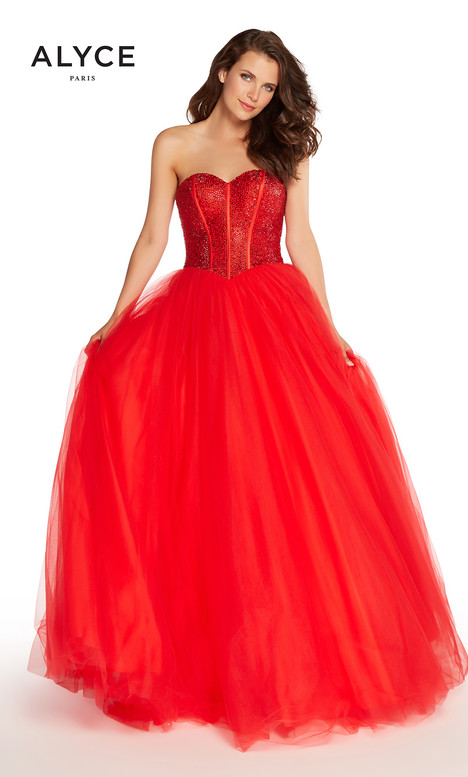 60204 (Red) gown from the 2018 Alyce Paris collection, as seen on Bride.Canada