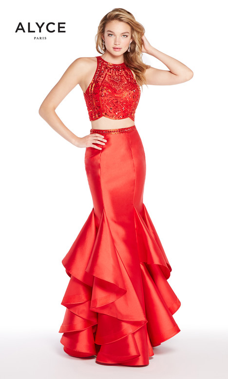 60215 (Red) gown from the 2018 Alyce Paris collection, as seen on Bride.Canada