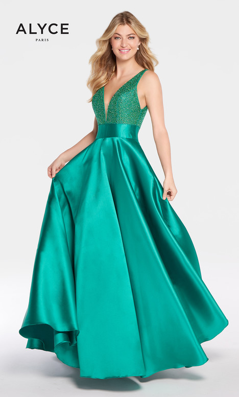 60224 (Emerald) gown from the 2018 Alyce Paris collection, as seen on Bride.Canada