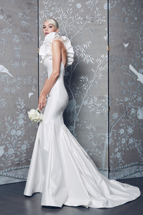 L8152 gown from the 2018 Legends Romona Keveza collection, as seen on Bride.Canada