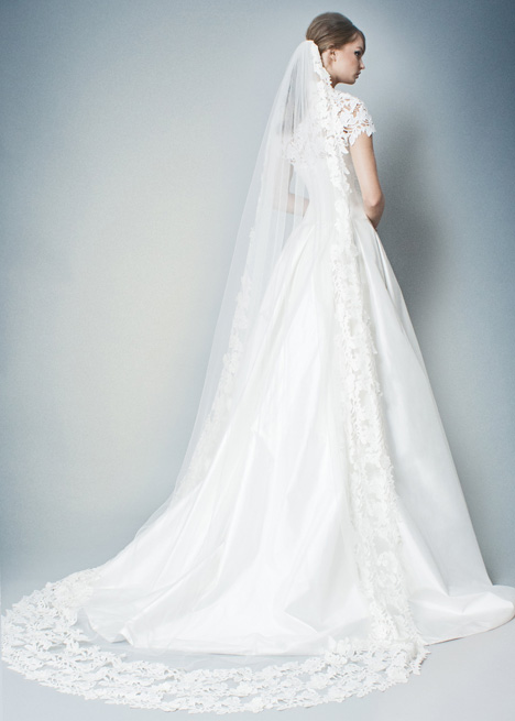 RB010 + RB010 (sleeves) (back) gown from the 2018 Romona collection, as seen on Bride.Canada