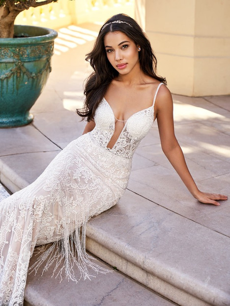 Santorini gown from the 2018 Val Stefani collection, as seen on Bride.Canada