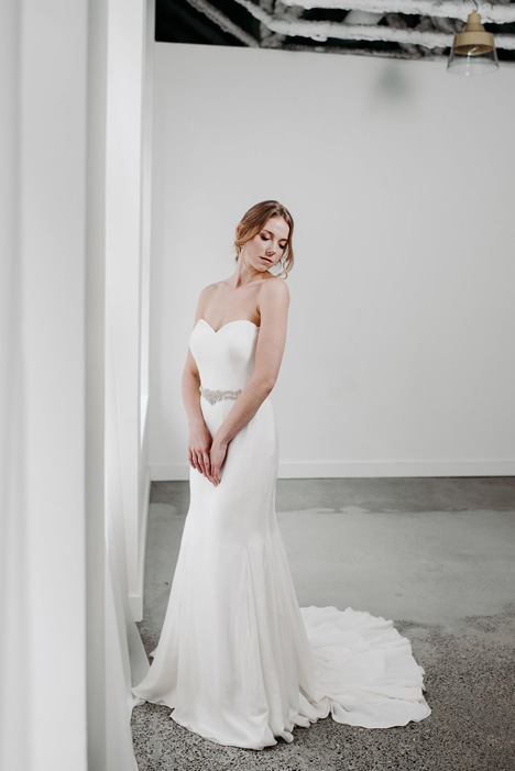 Aly gown from the 2018 Pure Magnolia collection, as seen on Bride.Canada