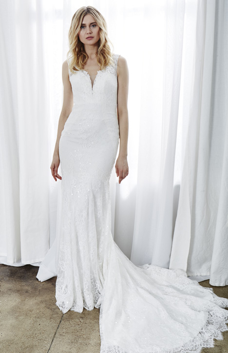 Lara gown from the 2019 Kelly Faetanini collection, as seen on Bride.Canada