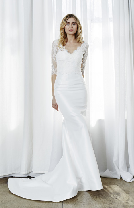 Simone Bolero gown from the 2019 Kelly Faetanini collection, as seen on Bride.Canada