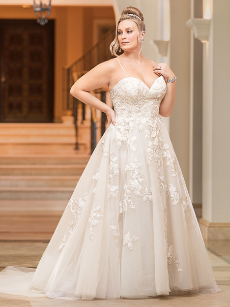 Melodie + gown from the 2018 Casablanca Bridal collection, as seen on Bride.Canada