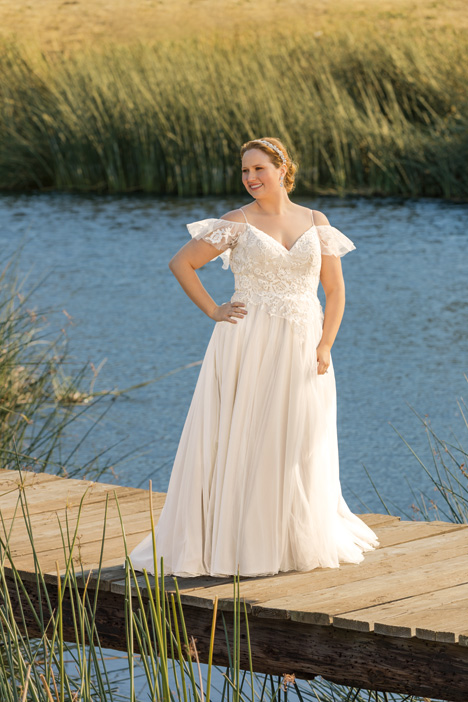 Millie + gown from the 2018 Beloved By Casablanca collection, as seen on Bride.Canada