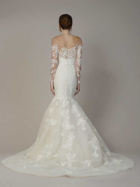 7807 (Back) gown from the 2018 Liancarlo collection, as seen on Bride.Canada