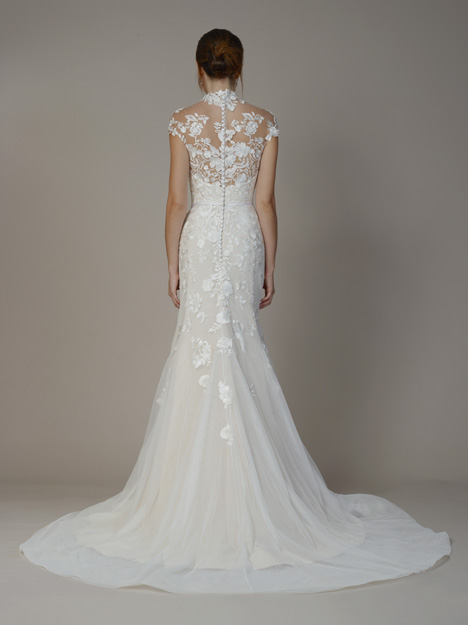 7814 (Back) gown from the 2018 Liancarlo collection, as seen on Bride.Canada