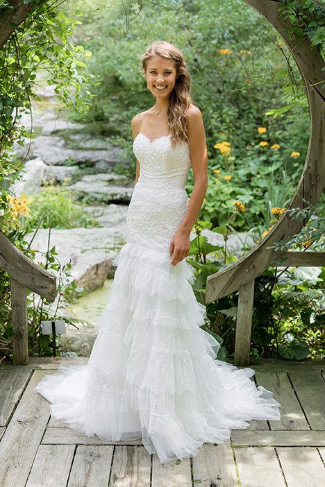 66003 gown from the 2018 Lillian West collection, as seen on Bride.Canada