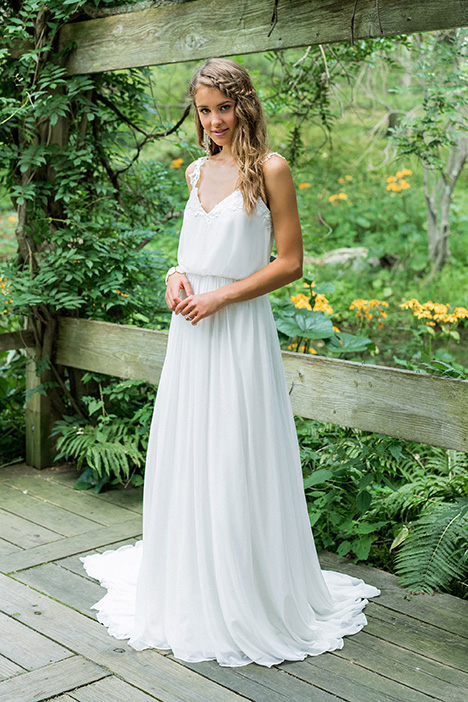 66005 gown from the 2018 Lillian West collection, as seen on Bride.Canada