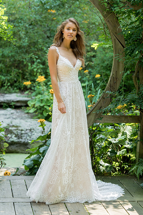 66020 gown from the 2018 Lillian West collection, as seen on Bride.Canada