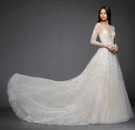 Isabela gown from the 2018 Lazaro collection, as seen on Bride.Canada