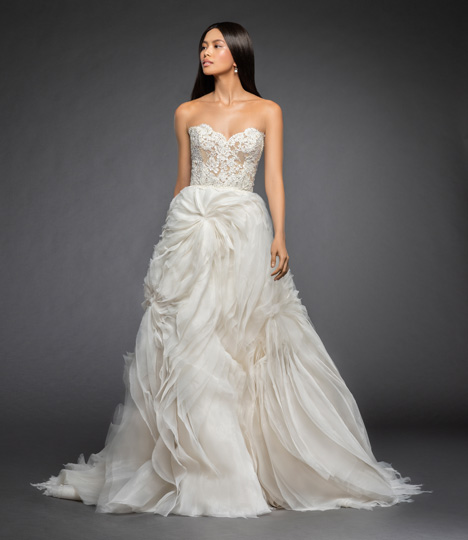 Rita gown from the 2018 Lazaro collection, as seen on Bride.Canada