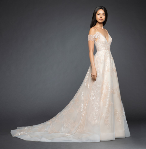 Natalia gown from the 2018 Lazaro collection, as seen on Bride.Canada