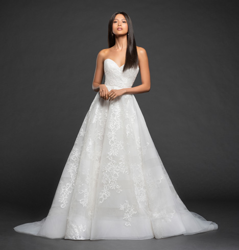 Ariana gown from the 2018 Lazaro collection, as seen on Bride.Canada