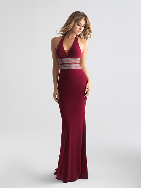 18-686 Wine gown from the 2018 Madison James Special Occasion collection, as seen on Bride.Canada
