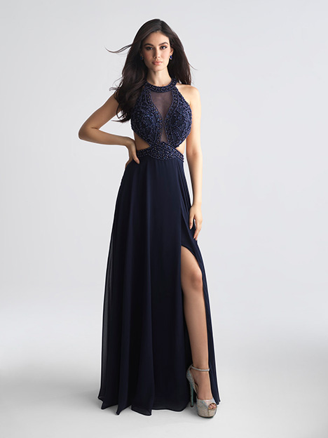 18-694 Navy gown from the 2018 Madison James Special Occasion collection, as seen on Bride.Canada