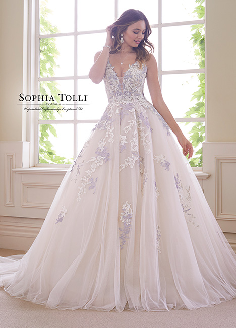 Y21834 gown from the 2018 Sophia Tolli collection, as seen on Bride.Canada