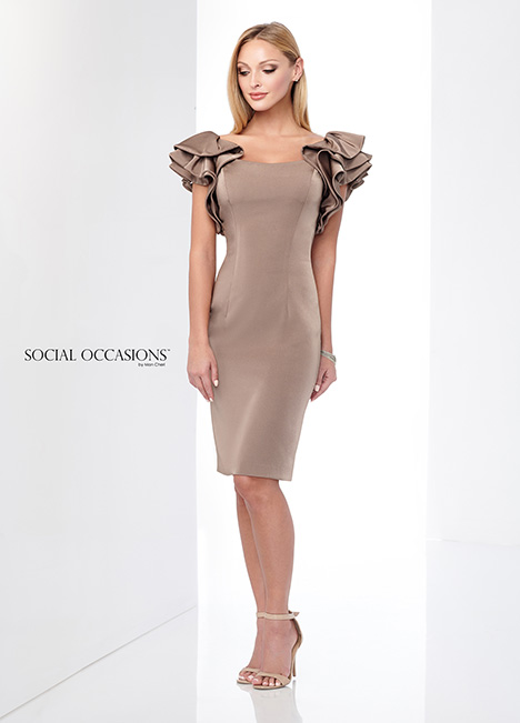 218816 (Light Cafe) gown from the 2018 Mon Cheri: Social Occasions collection, as seen on Bride.Canada