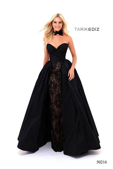 50216 gown from the 2018 Tarik Ediz: Prom collection, as seen on Bride.Canada